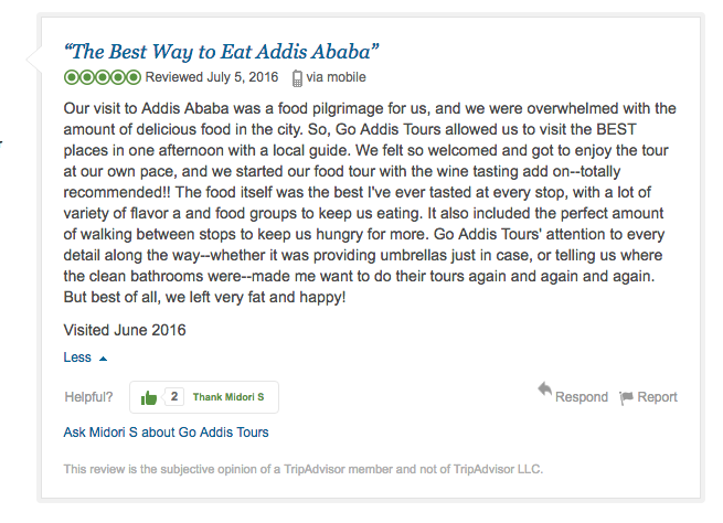 Go Addis Food Tour Review